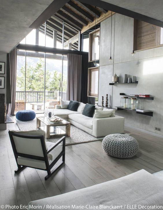 La déco esprit chalet contemporain Salons, Interiors and House