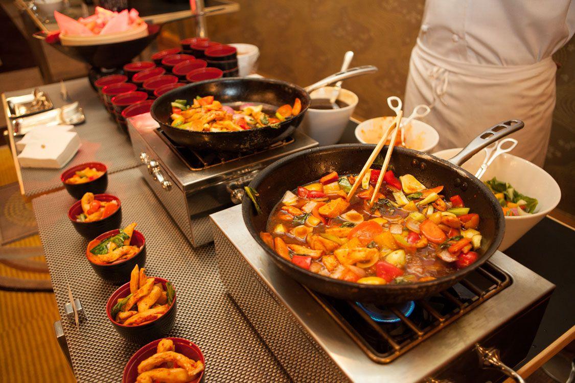 Chinese Food Station Reception Food Wedding Reception Food Food