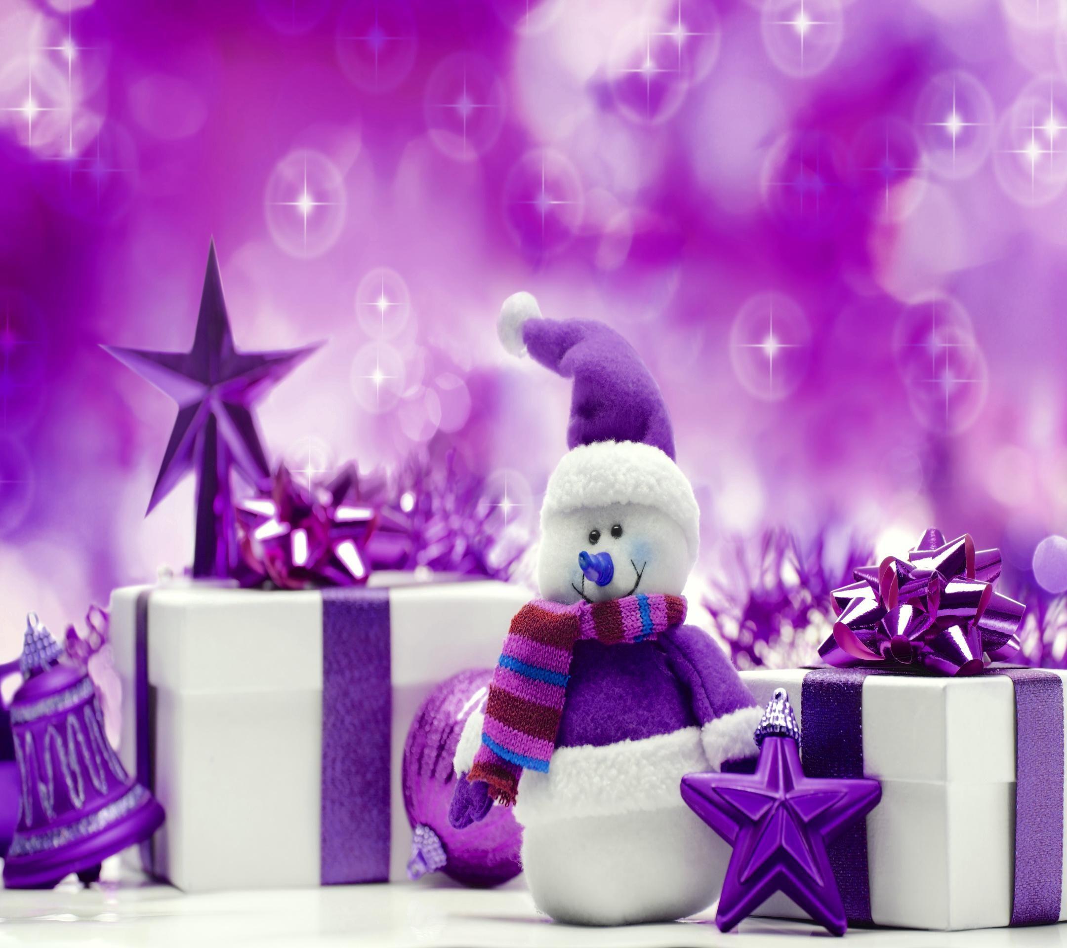 Purple christmas wallpaper christmas snowman background - Purple christmas desktop wallpaper ...
