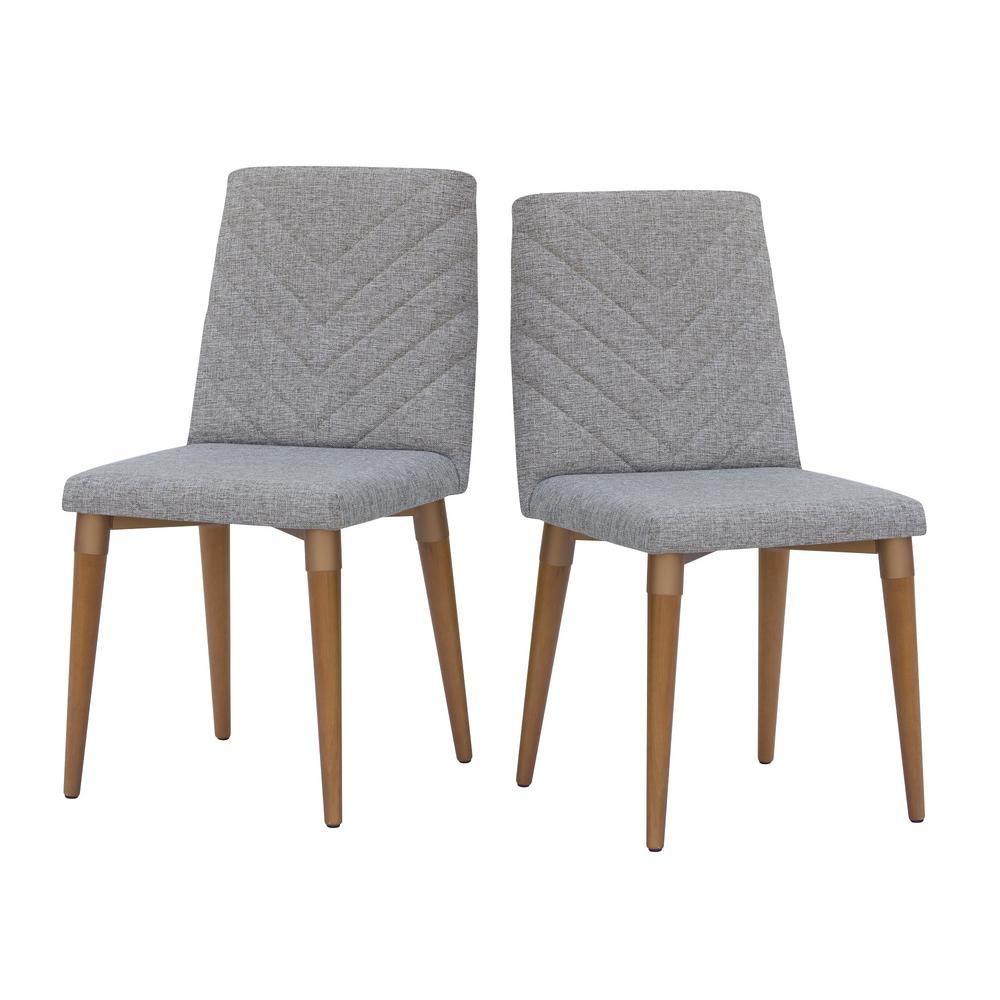 Manhattan Comfort Utopia Gray Dining Chair Set Of 2 Grey Gray