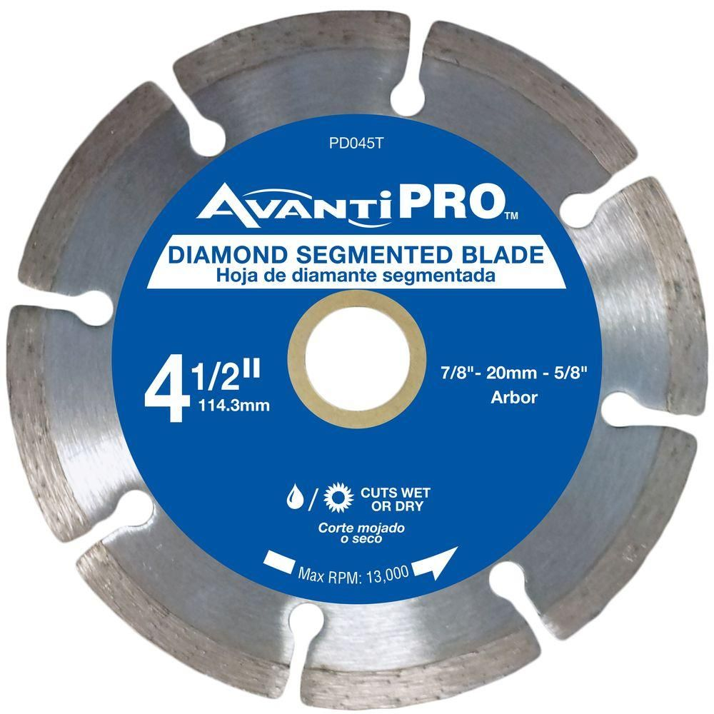 Avanti Pro 4 5 In Segmented Diamond Blade Hd S45s8 The Home Depot Ceramic Wall Tiles Porcelain Flooring Wall Tiles