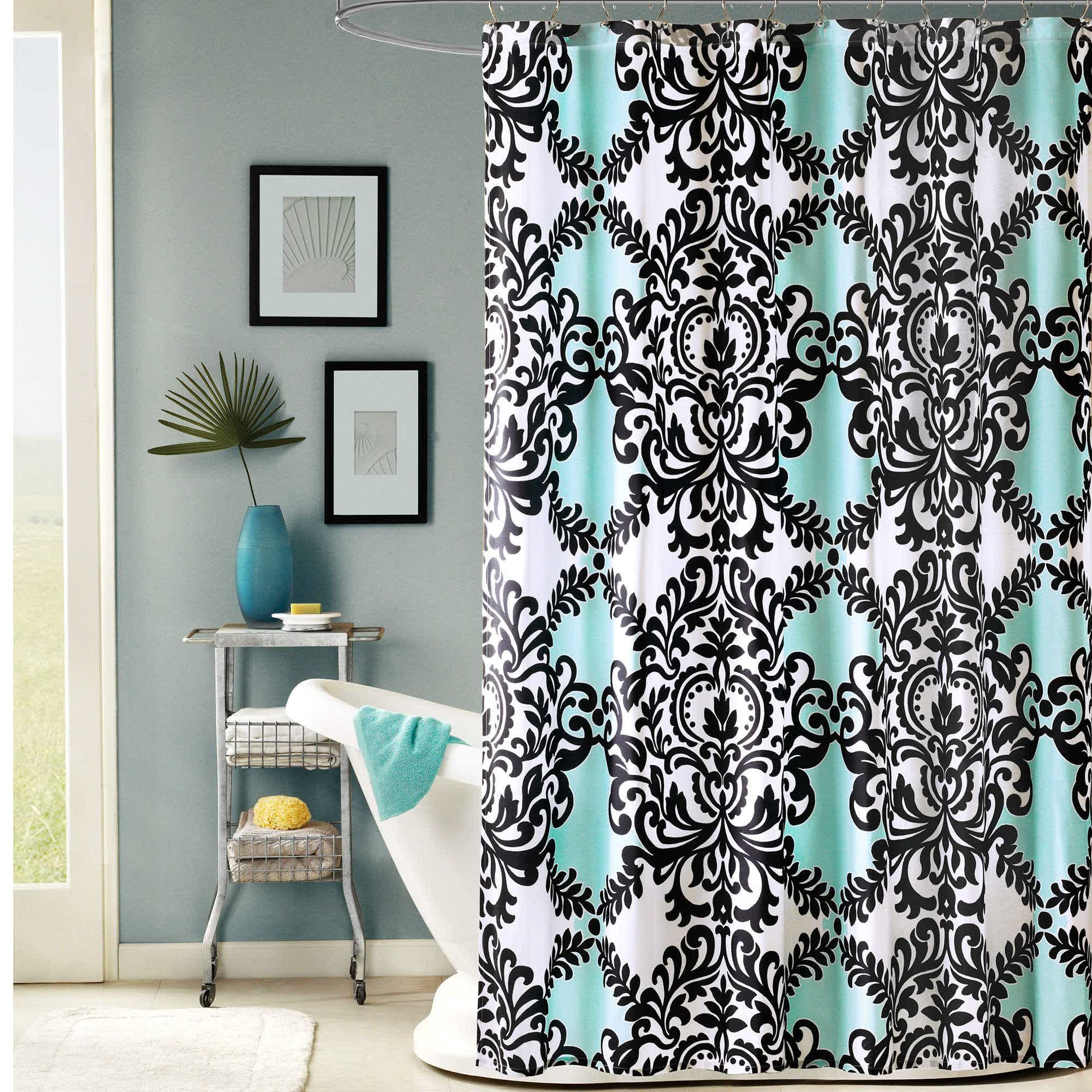 teal shower curtains