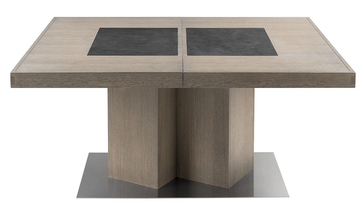 La table terra est une exclusivit monsieur meuble en for Table de salle a manger pied central