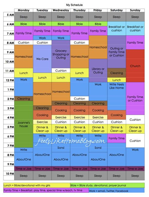 My New Schedule featuring Tell Your Time by Amy Lynn Andrews