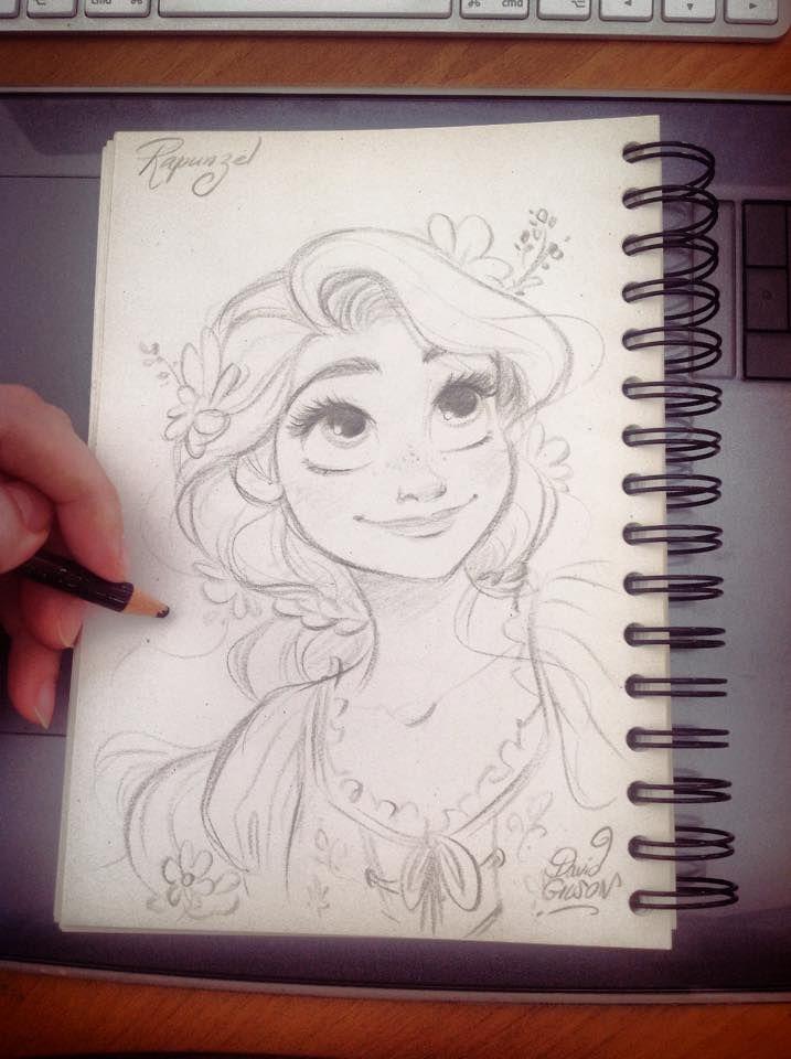 Meg My Sweet Disney Art Rapunzel Sketch Princess Drawings