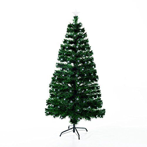 HomCom 75\u2032 280 LED / Fiber Optics Artificial Christmas Tree w/ 8