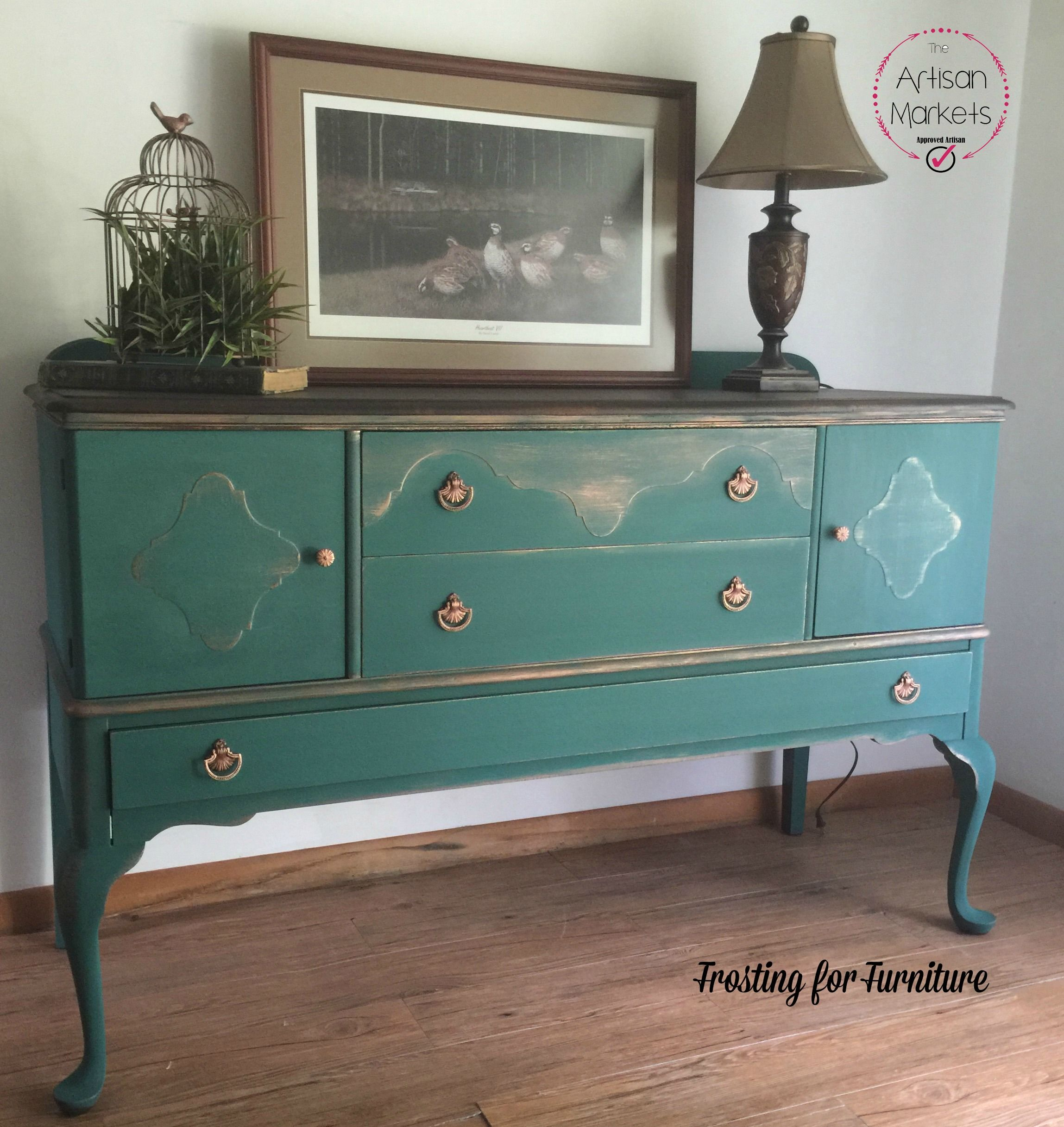 Perfect Hand Painted Buffet In #Heirloomtraditionsalexandrite And  #Modernmasterscopper
