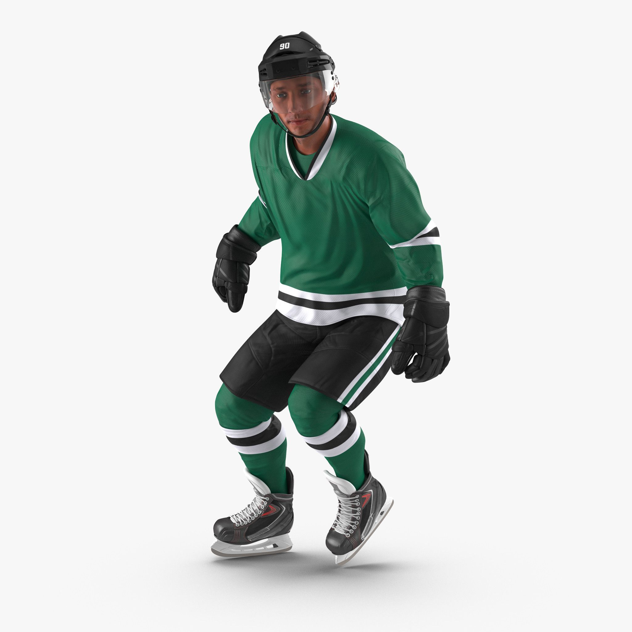 Hockey Player 3d model  Rigged | 3D Characters, Clothing