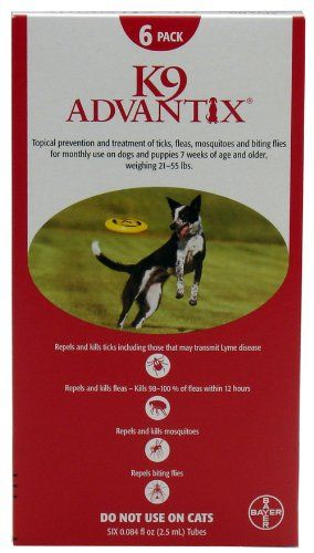 Bayer K9 Advantix 55 2155lbs 6pack Red Read More Reviews Of The Product By Visiting The Link On Flea Treatment For Puppies Flea And Tick Tick Control