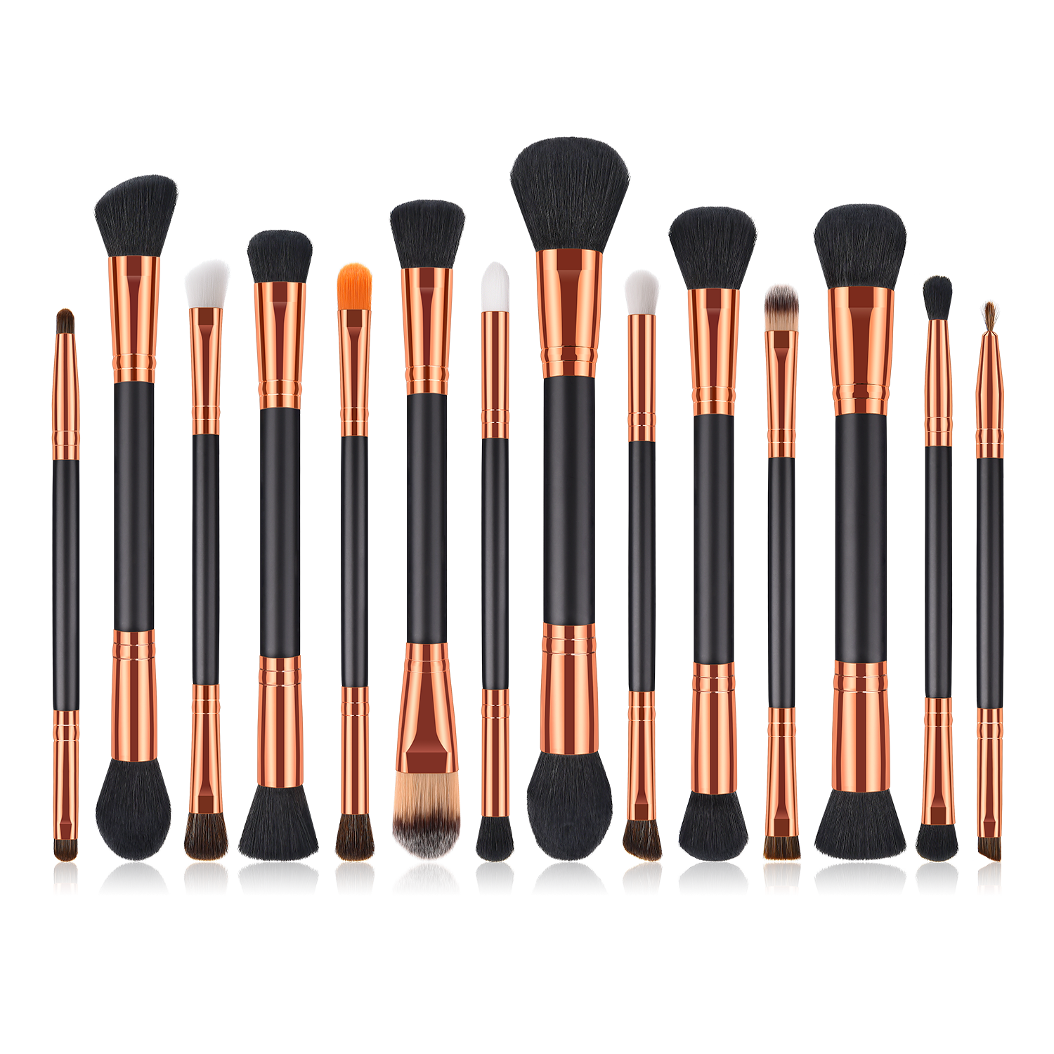 Black/gold 14 pieces makeup brushes set available