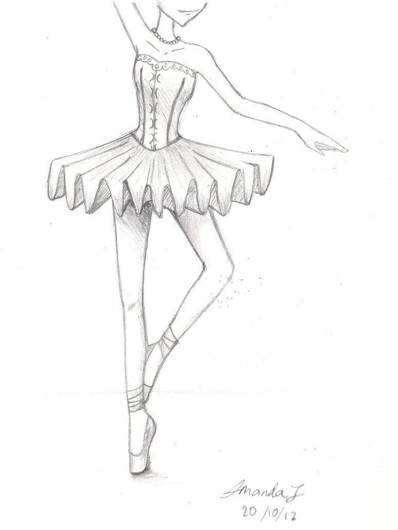 Easy Ballet Dancer Drawing  Learn To Dance At Balletforadults!