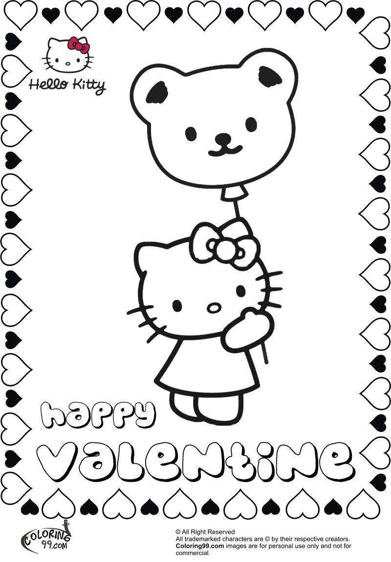 Hello Kitty Valentine Coloring Pages Coloring99 Com Kitty Coloring Hello Kitty Colouring Pages Hello Kitty Coloring