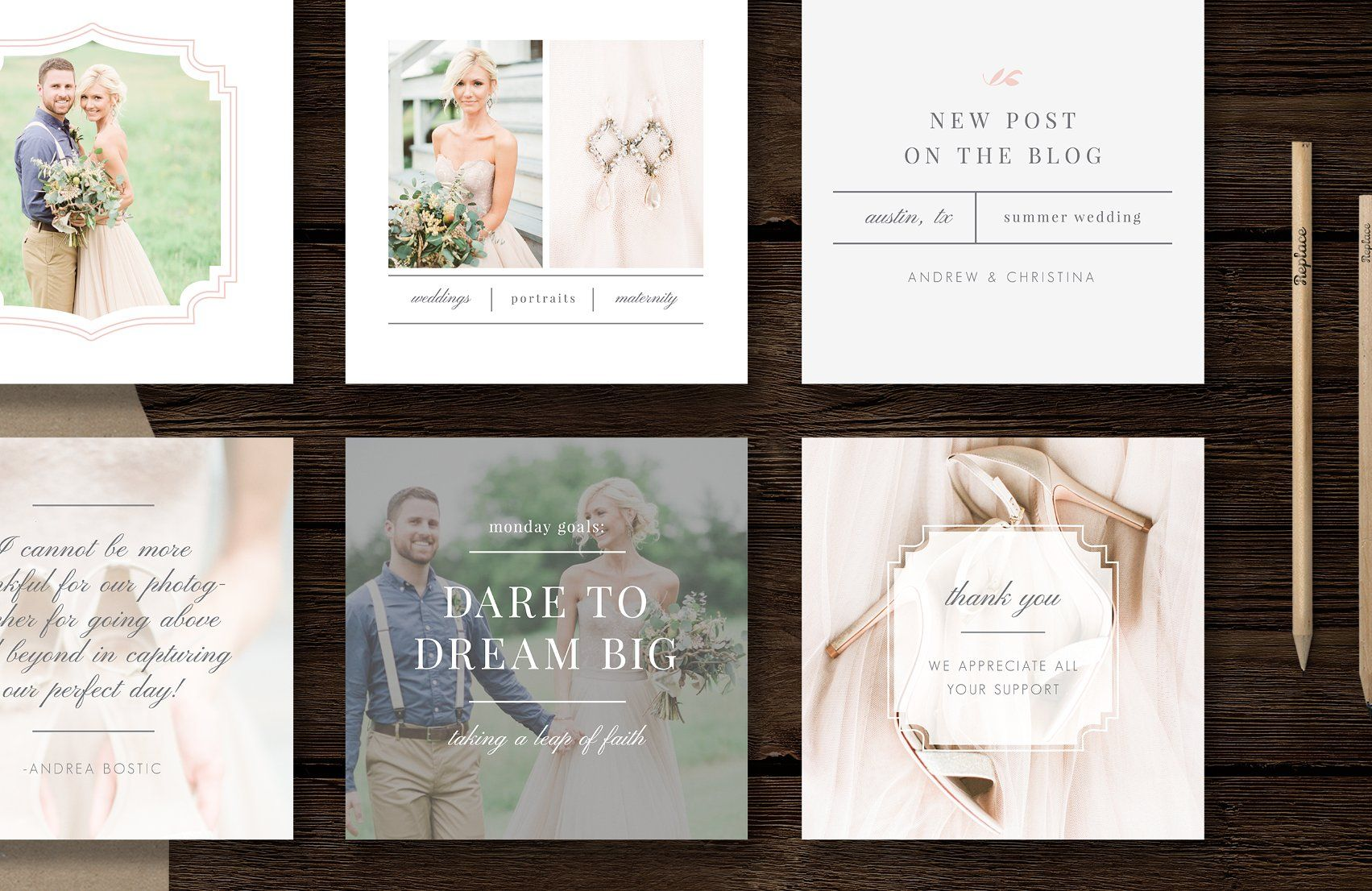Social Media Templates - Instagram by Bittersweetdesignboutique on @creativemarket