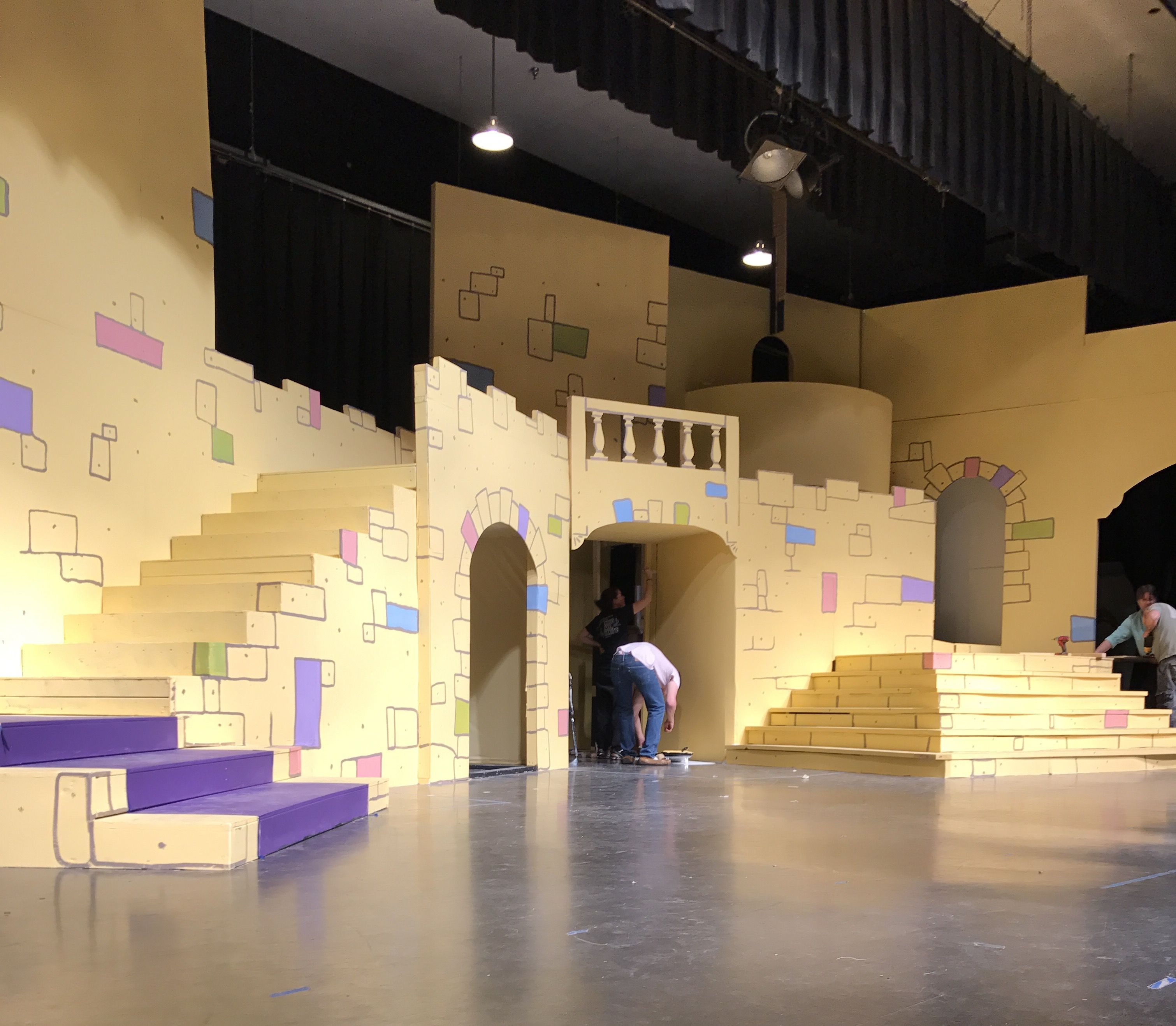 Castle Interior Design Set the masonry begins on our technicolor castle. once upon a mattress