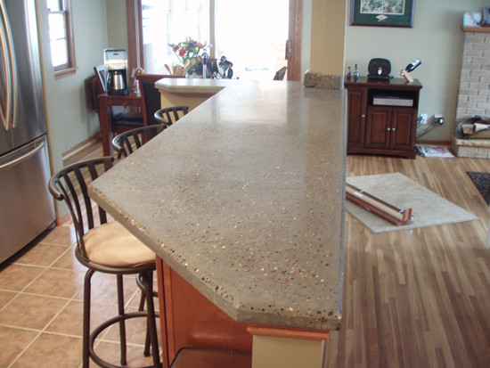 Photos Of Polished Concrete Countertops Mn