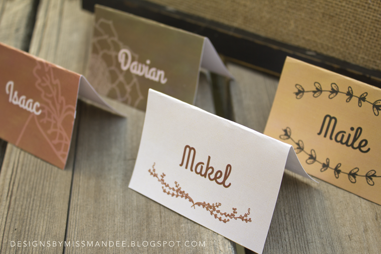 Printable Thanksgiving Place Cards Printable Place Cards Thanksgiving Place Cards Fall Place Cards