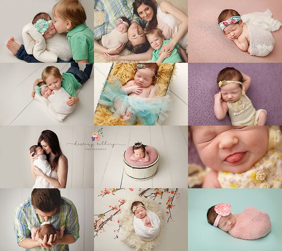 Newborn girl photos family and newborn posing destiny tillery photography
