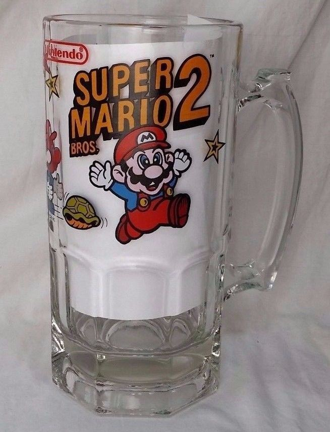 Vintage Nintendo Super Mario Bros. 2 Large Mug Cup Stein 1989 HTF ...