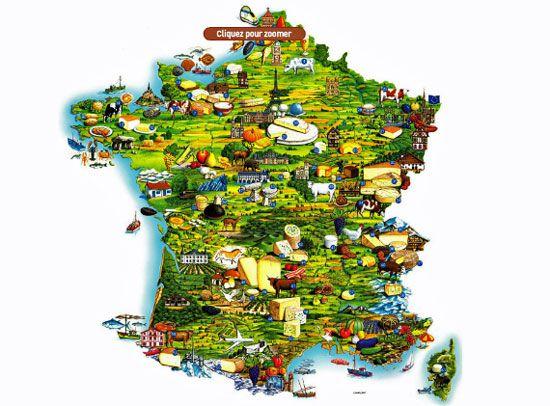 Carte de france alimentation my blog - Cuisine du nord de la france ...