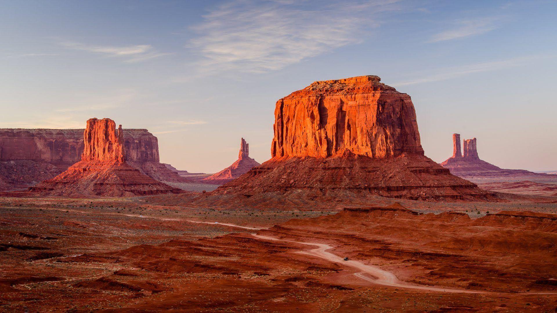 Sunshine Utah Monument Valley Hd Desktop Wallpaper Fullscreen