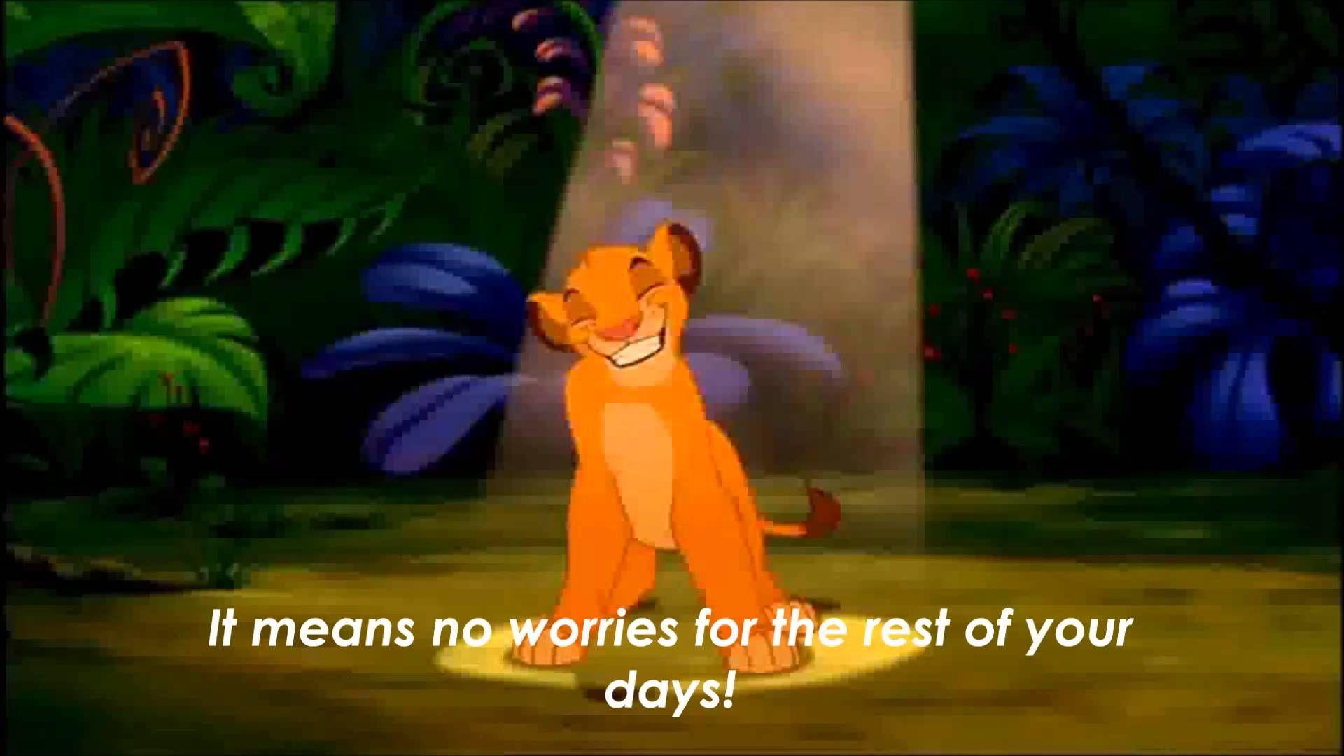 Lion King Hakuna Matata Lyrics On Hd Official Video Lion King Hakuna Matata Disney Songs Lion King
