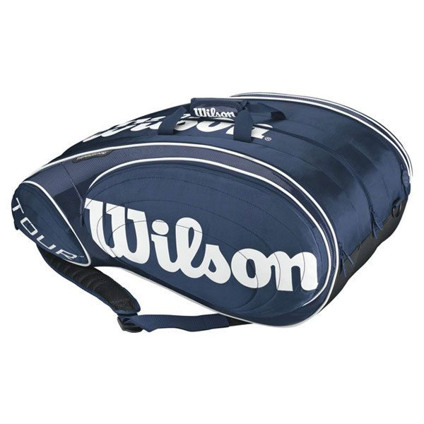 Wilson Tour Blue White 15 Pack Tennis Bag Wilson Tennis Bags Tennis Bag Tennis Bags
