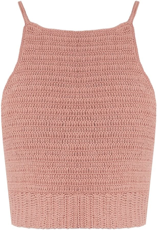 Cutest crochet crop top.