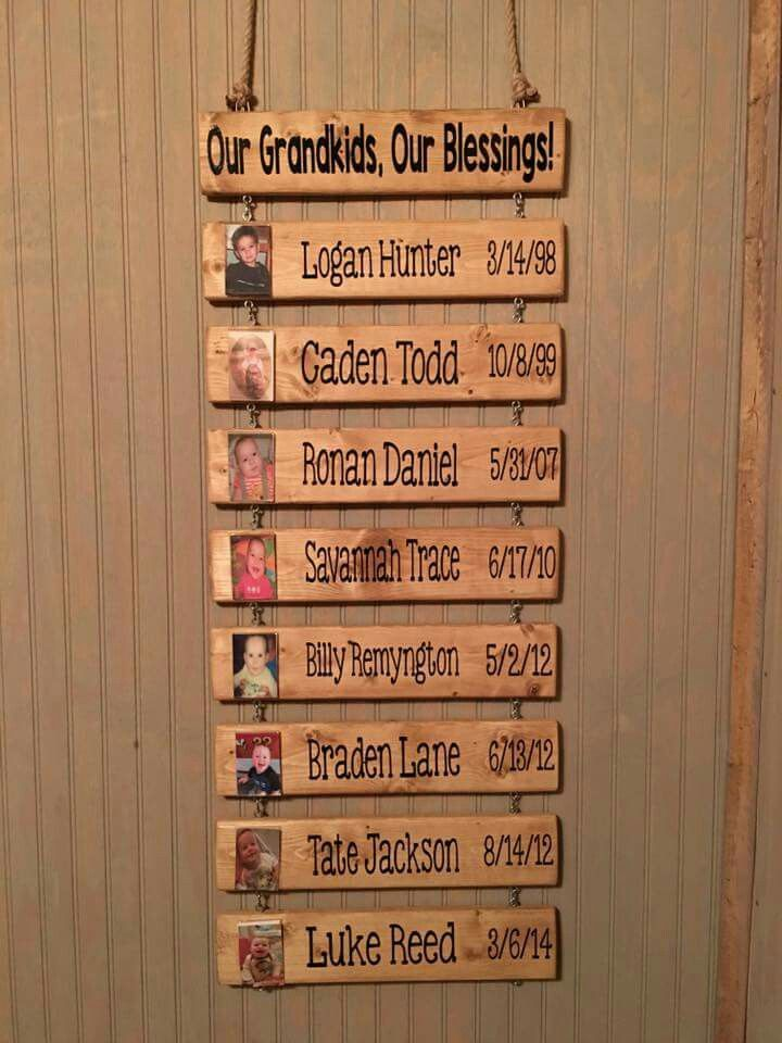 Grandparents Wall Hanging Diy Projects Pinterest