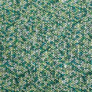 Multi-Green Abstract Stretch Cotton Woven