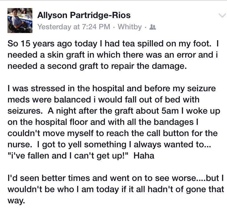 "Al Partridge-Rios on Twitter: ""September 11, 2000 - my story of resilience #AODA #motivation http://t.co/mKHMNjxP2s"""