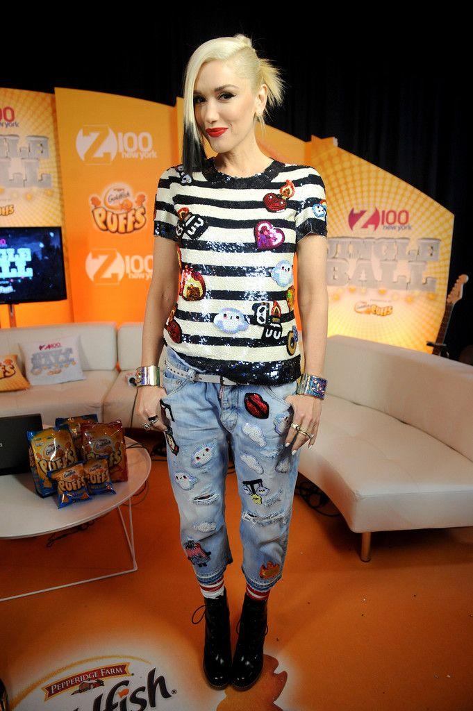 Gwen Stefani style at Z100's Jingle Ball
