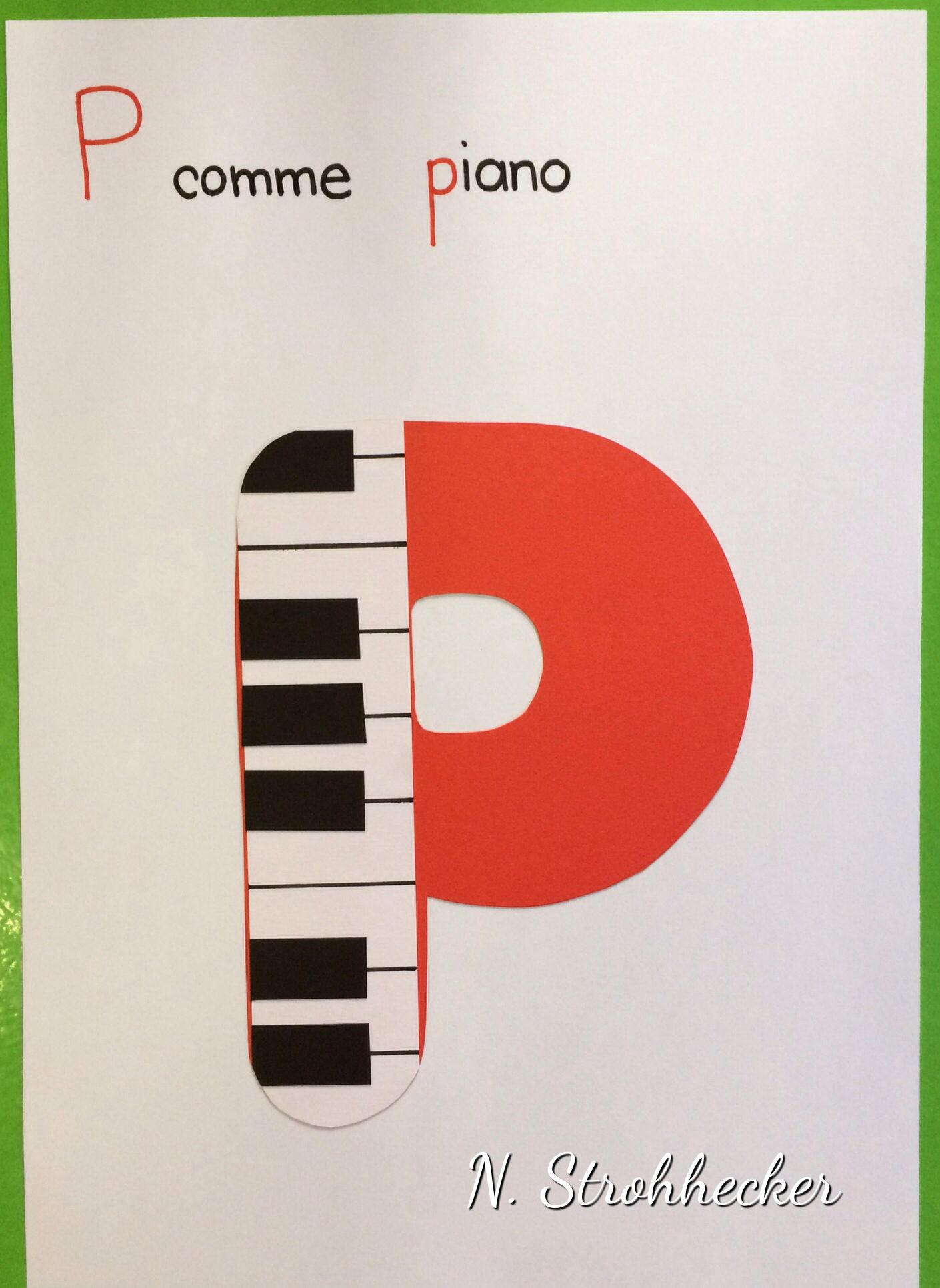 P comme piano | Alphabet letter crafts, Alphabet crafts ...