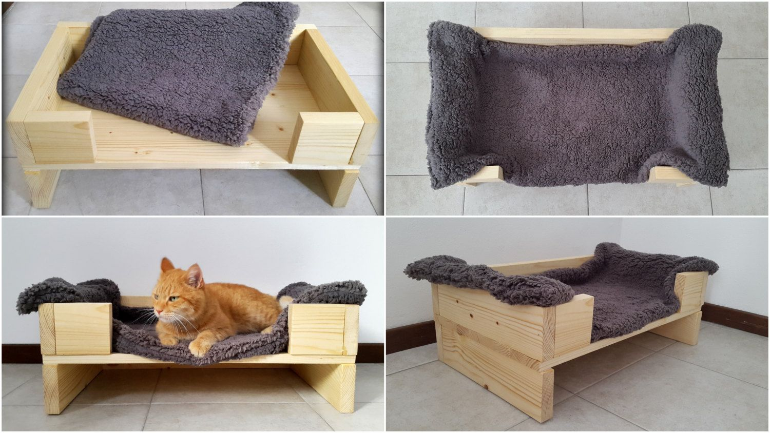 small dog furniture. Wood Pet Bed, Furniture, Cat Dog Bed Made Of Recycled Spruce With A Super Soft Blanket Included Small Furniture R