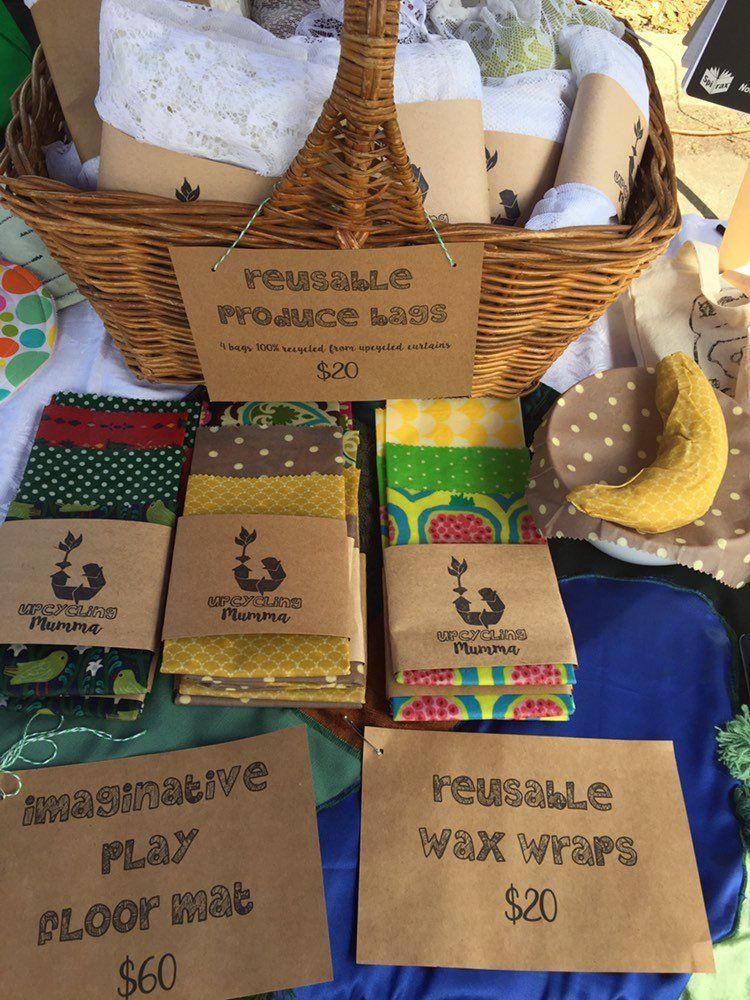 Reusable wax wraps made from Australian bees wax, jojoba oil