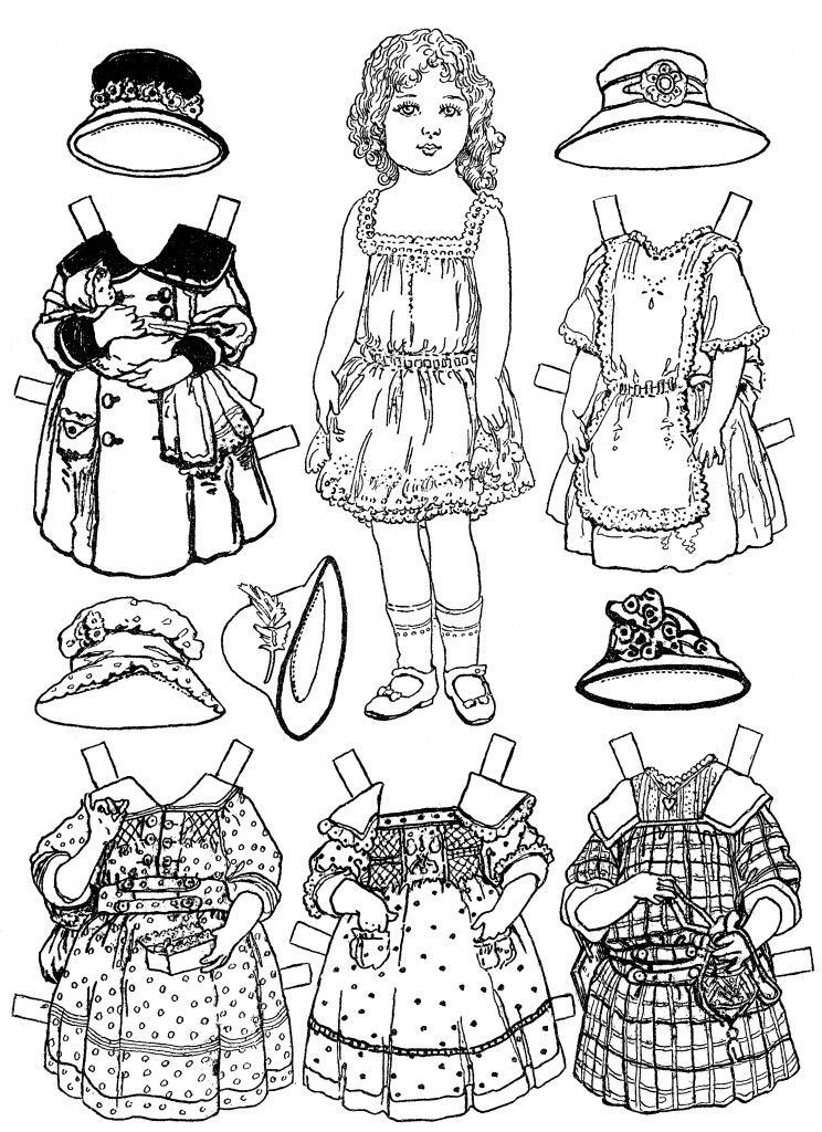 Free Printable Paper Doll Coloring Pages For Kids Adult Coloring