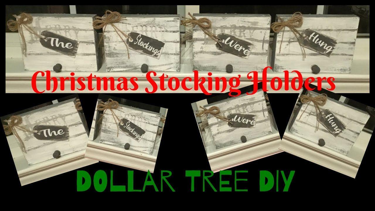 Christmas Stocking Holders Dollar Tree DIY Christmas