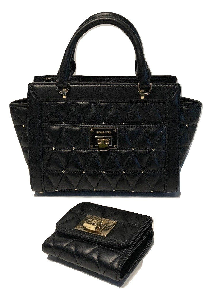 3def2b694d85 MICHAEL Michael Kors Vivianne SM TZ Messenger Quilted Handbag ...