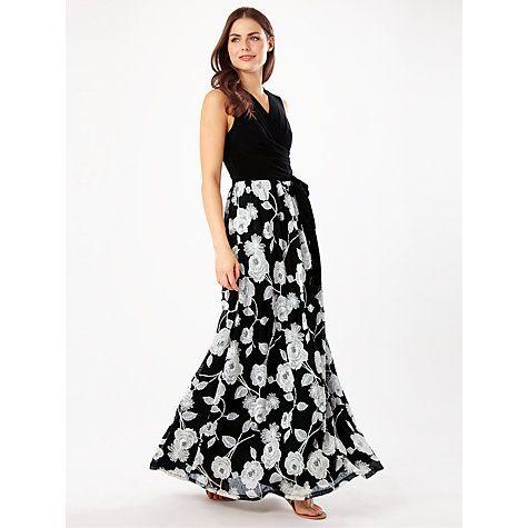 1a2248b19b32c Buy Phase Eight Gwenda Lace Maxi Dress, Black/Stone Online at johnlewis.com