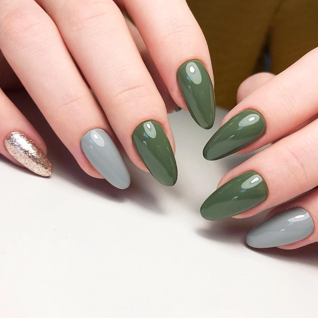 60 Cute Nail Design Ideas To Try This Season Halloween Nail Art Green Nails Halloween Nails