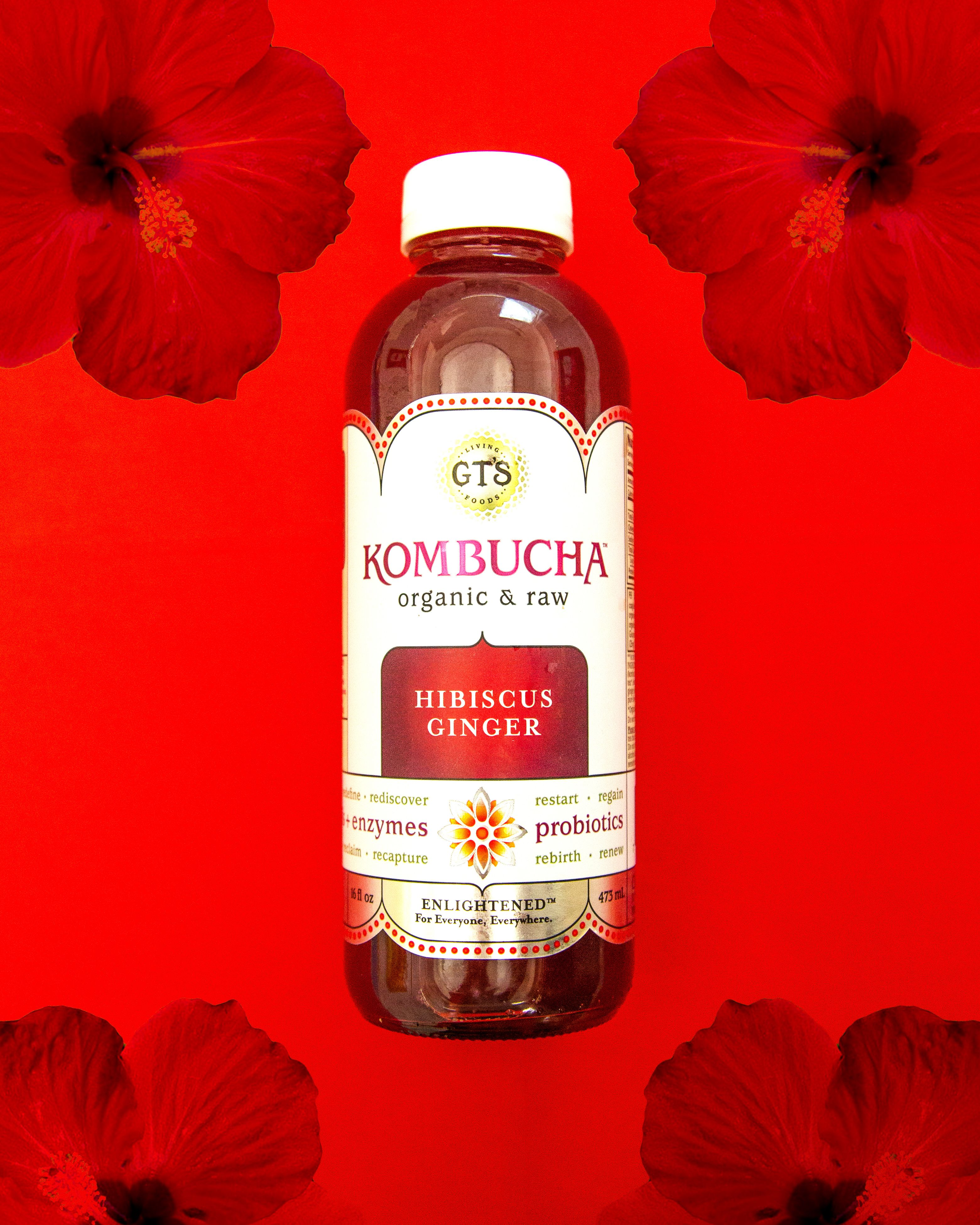 We Re Proud Of What S Inside Our Bottles Gt S Kombucha Hibiscus Ginger Pairs Our Signature Small Batch Kombucha With Antioxi Kombucha Vegetarian Dim Sum Food