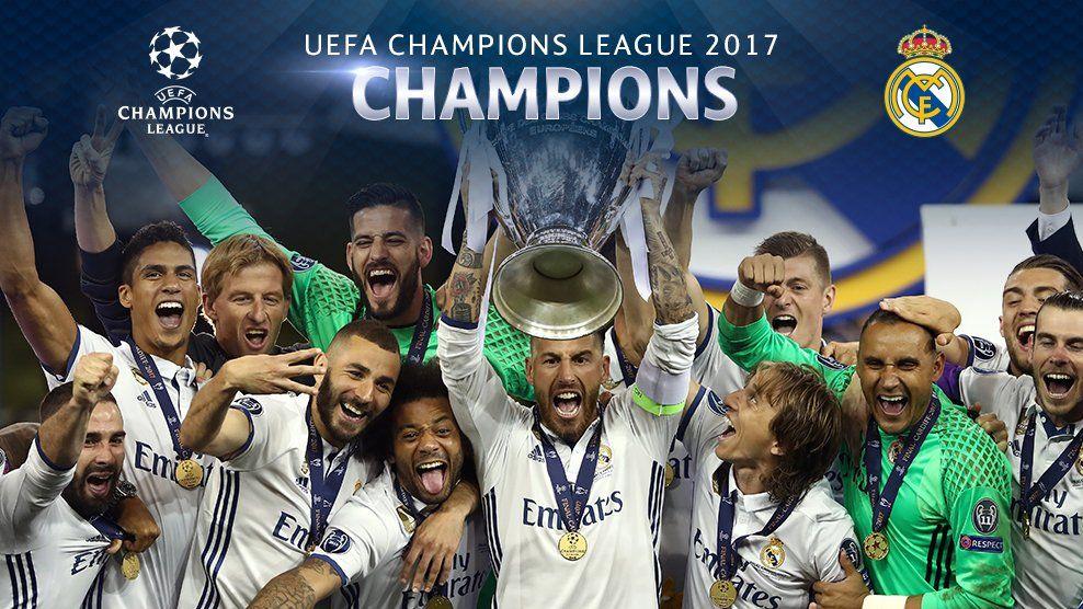 Winners Real Madrid Football Club Champions League Real Madrid
