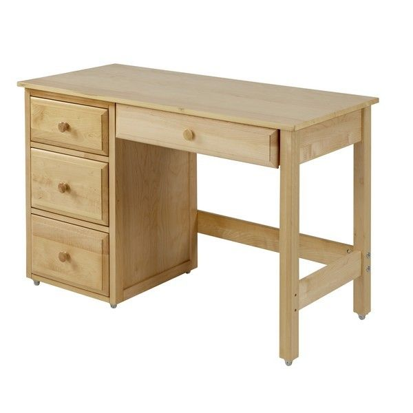 Student Desk With Pencil Drawer Natural