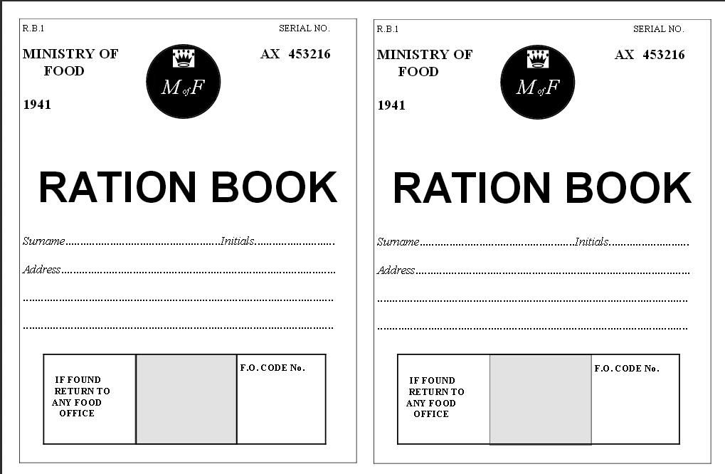image about Ration Book Ww2 Printable called World-wide War ll Ration E-book Printable PDF Common CRAFT Suggestions