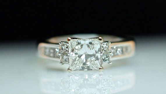 1.67cttw Princess Cut Solitaire Diamond by JamieKatesJewelry, $5500.00