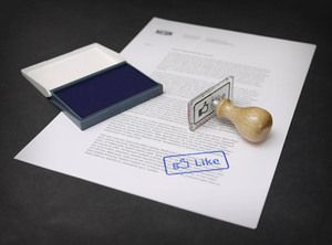 """""""Like"""" Stamp. Oh man, if I was a teacher, I would use this stamp everyday. Of course, I would also have to order """"Dislike."""""""