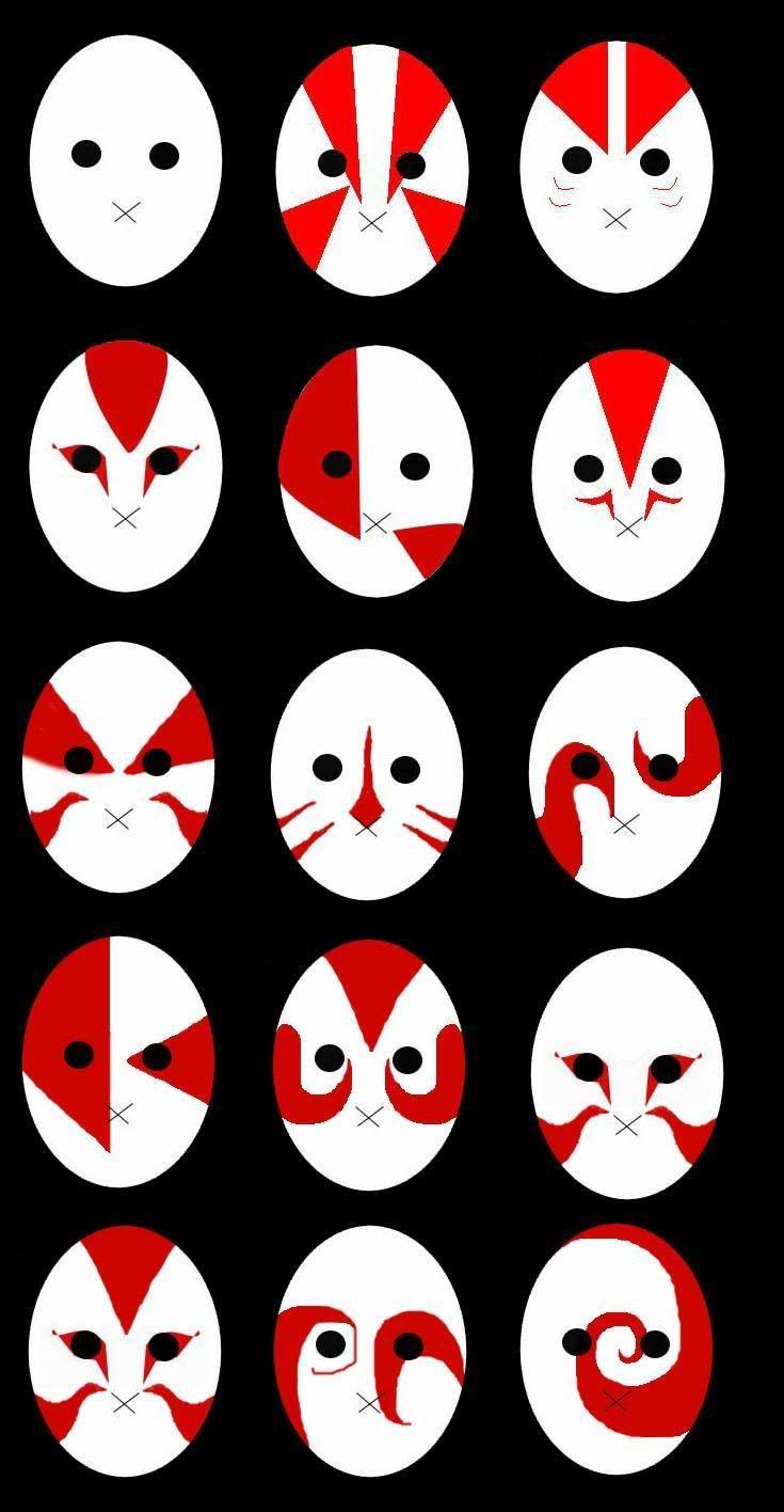 ANBU masks from Naruto | Anime | Naruto tattoo, Naruto