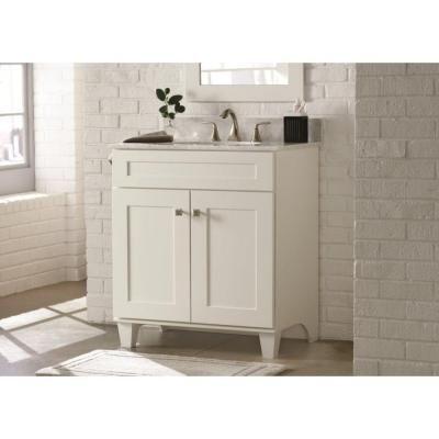 Home Decorators Collection Creeley 30 Inw Bath Vanity Cabinet Pleasing 30 Bathroom Vanity With Drawers Design Ideas