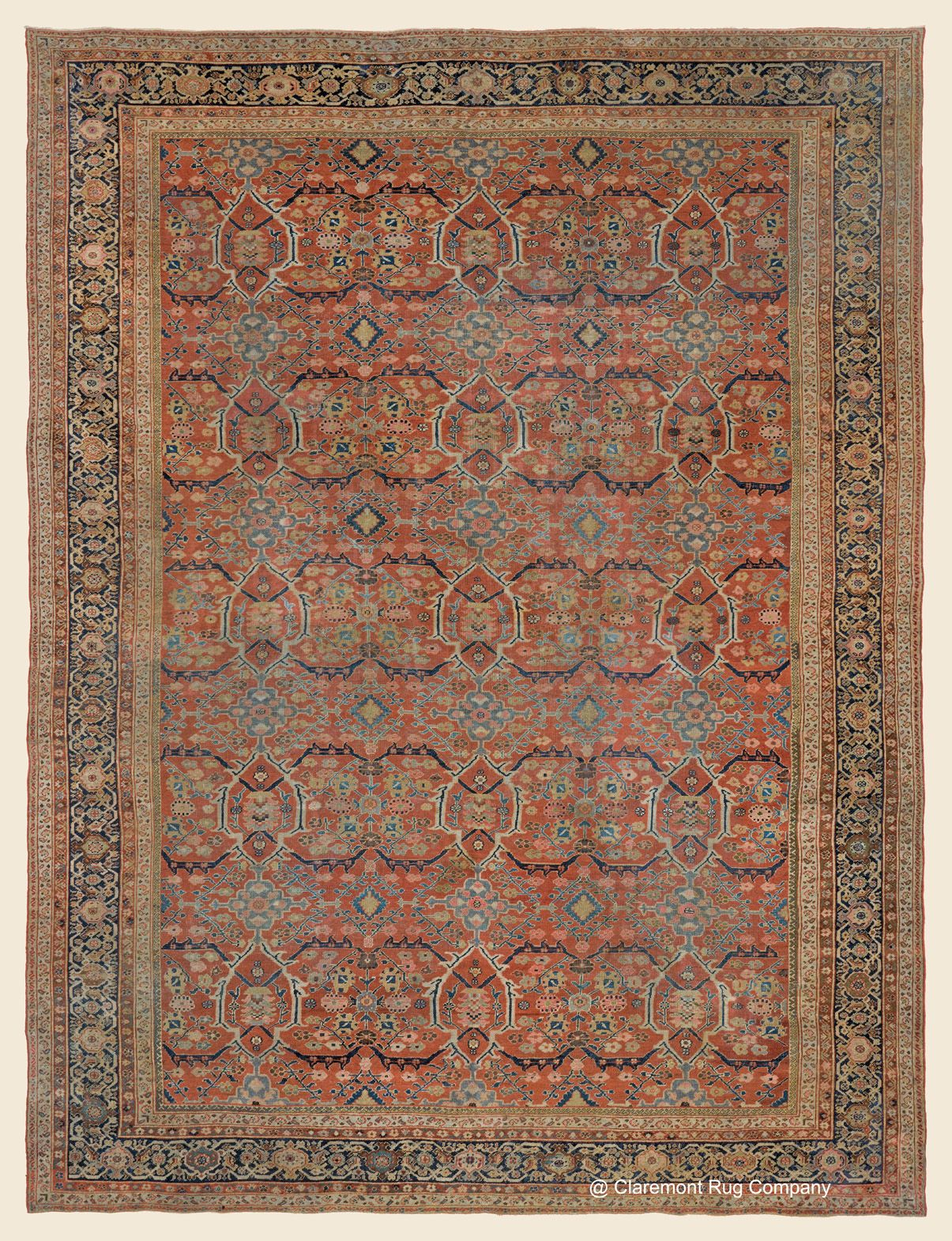 Sultanabad 12 3 X 15 10 3rd Quarter 19th Century West Central Persian Antique Rug Claremont Rug Company Cli Rugs Claremont Rug Company Rugs On Carpet