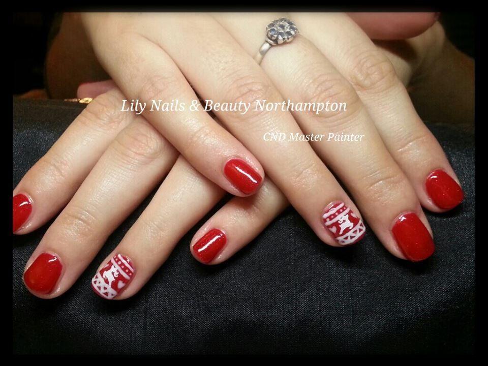 Christmas reindeer nail design   Nails   Pinterest