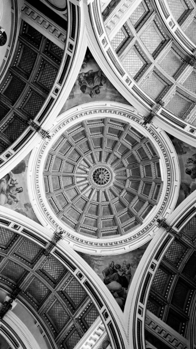 Beautiful Ceiling Architecture IPhone 5 Wallpaper